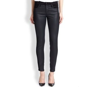 Joe's Coated Front Black Skinny Jeans